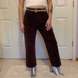 Vintage dark brown corduroy pants